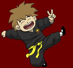 Jeune garçon faisant des arts martiaux et du kung fu à versailles
