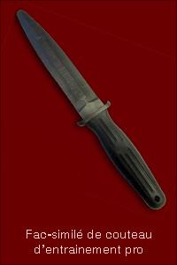 Fac-similé de couteau d'entrainement